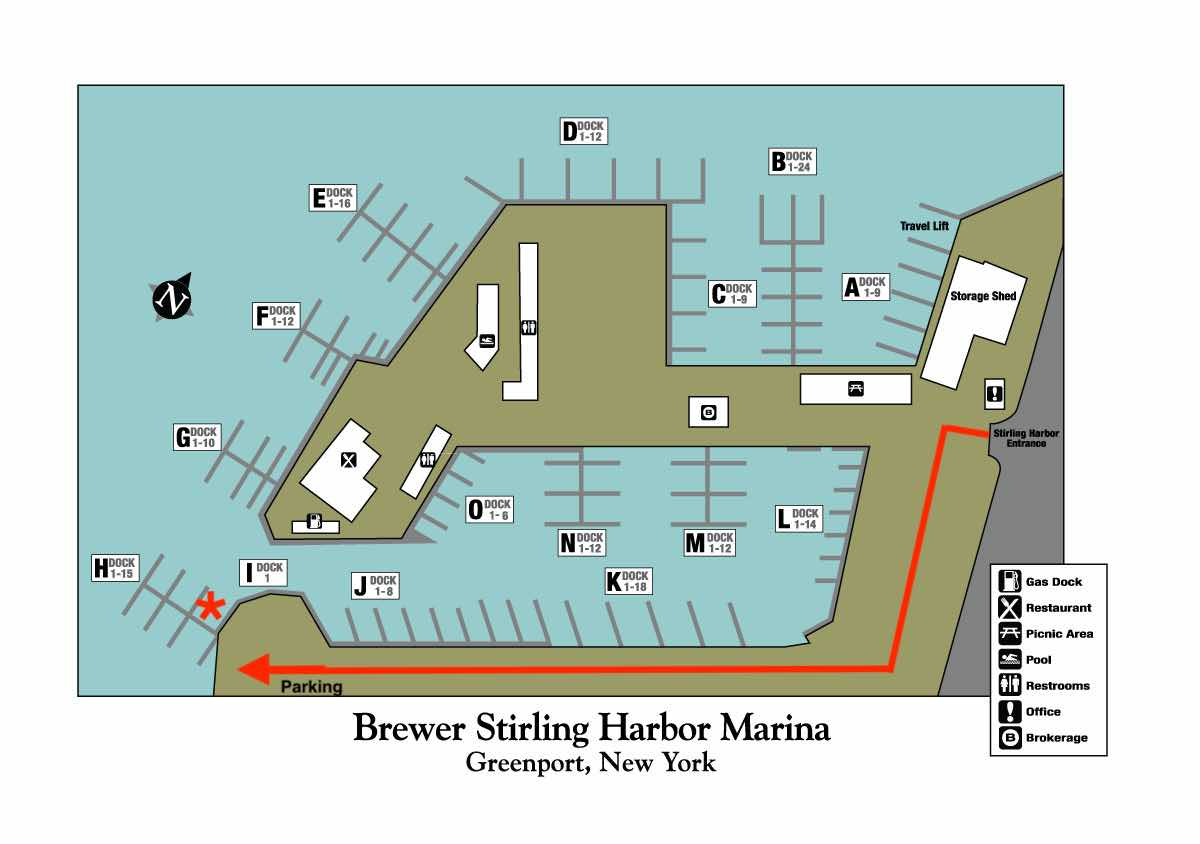 greenport sailing directional map