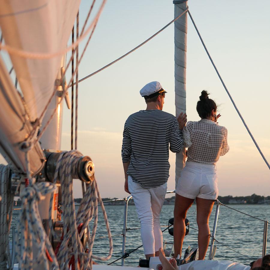 sunset sail on Layla